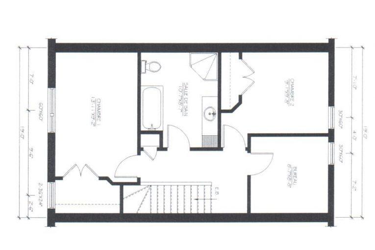 Maison de ville neuves vendre trois rivi res for Plans de maison de ville